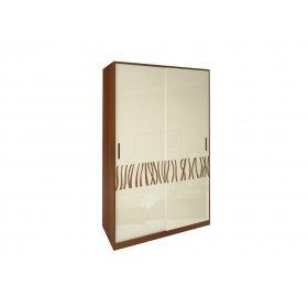 Шкаф-купе Терра глянец ваниль/вишня бюзум 134х213х66 см
