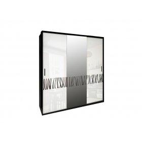 Шкаф-купе Терра глянец белый черный мат 200х213х66 см