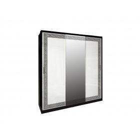 Шкаф-купе Виола глянец белый/черный мат 200х213х66 см