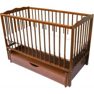 Детская кроватка Радуга на шарнирах с ящиком