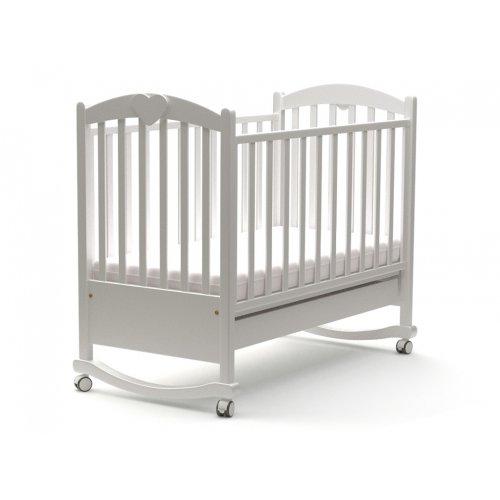 Детская кроватка Сердечко бук 60х120 с маятниковым механизмом.