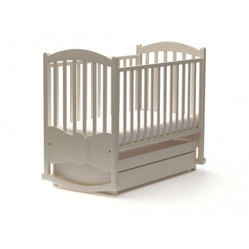 Детская кроватка Сплюшок Бант 60х120 с маятниковым механизмом