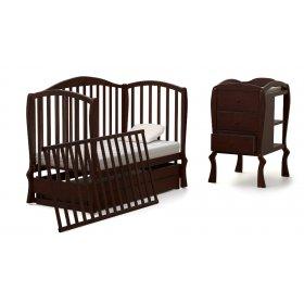 Кроватка-диванчик Эля + комод + матрас Cocos Comfort 60х120