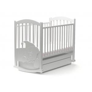 Детская кроватка Медвежонок 60х120 с маятниковым механизмом