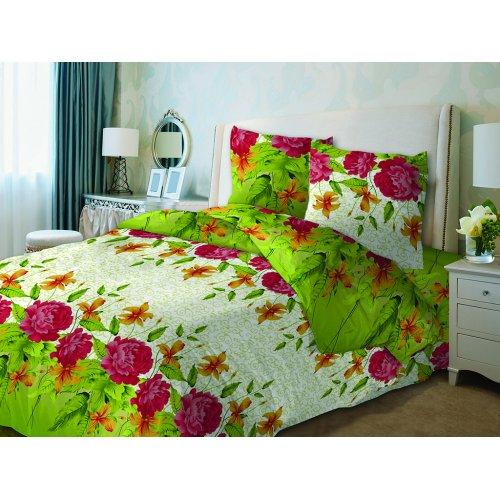 Полуторный комплект постельного белья Пионы