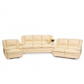 Комплект кожаной мебели Верона 3+2+1