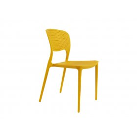 Стул пластиковый Mark желтый 11