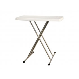Стол пластиковый складной белый PLTBY-3270
