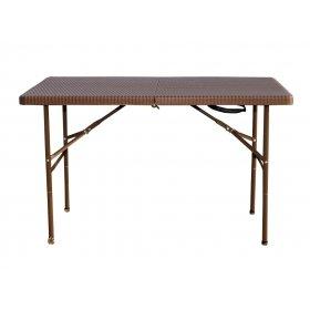 Стол PLTR-12200 ротанг коричневый