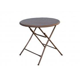 Стол пластиковый складной коричневый PLTR-8001