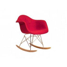Кресло-качалка Leon Soft Rack Вискоза красный K 9