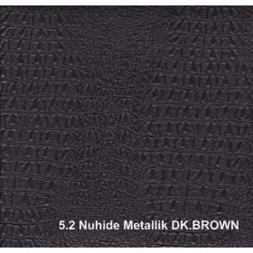 Кожзам Nuhide metallk bk brown