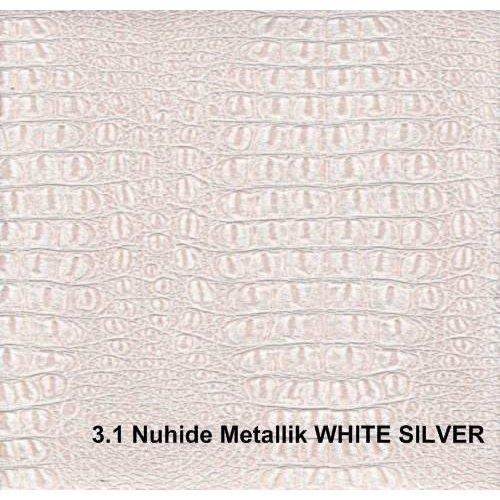 Кожзам Nuhide metallk white silver