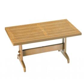 Пластиковый стол Дива 70х120 тик под дерево