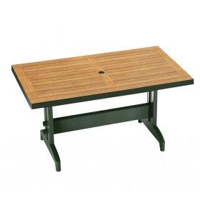 Пластиковый стол Дива 80х140 зеленый под дерево
