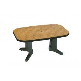Пластиковый стол Лагуна 100х165 зеленый