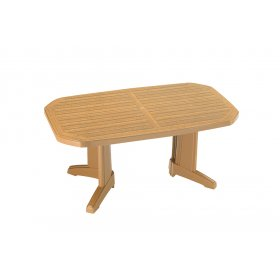 Пластиковый стол Лагуна 100х165 тик