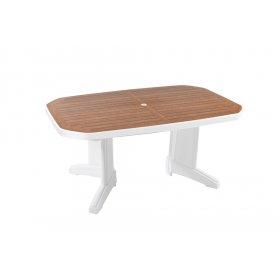 Пластиковый стол Лагуна 100х165 белый