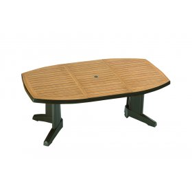 Пластиковый стол Магнум 115х195 зеленый