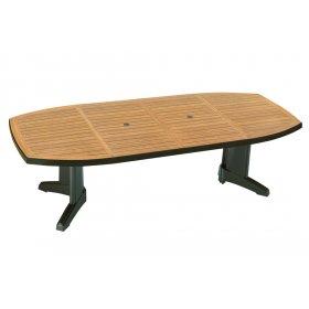 Пластиковый стол Магнум 115х255 зеленый