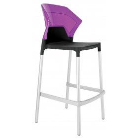 Барный стул Ego-S сиреневый с черным