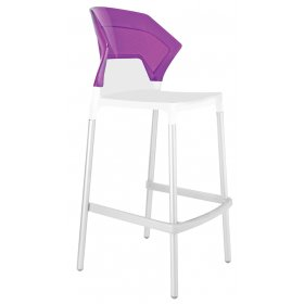 Барный стул Ego-S сиреневый с белым