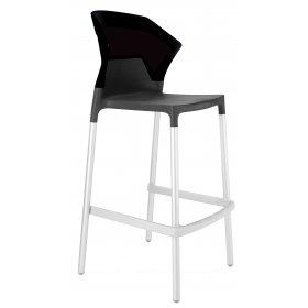 Барный стул Ego-S черный с антрацитом