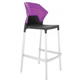 Барный стул Ego-S пурпурний с антрацитом