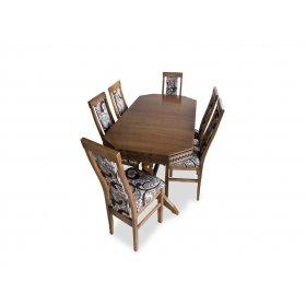 Комплект стол Буковель + 6 стульев Лир