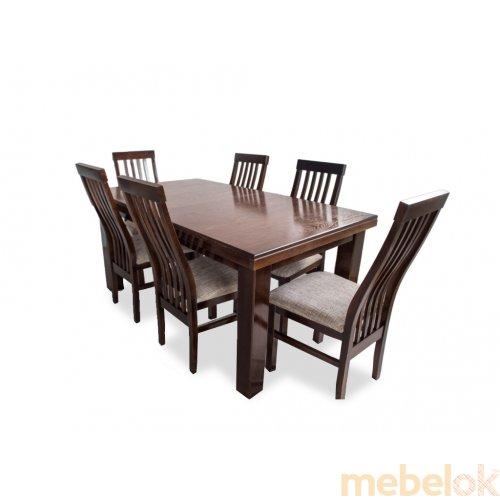 Комплект стол Европа нераскладной + 6 стульев Модерн