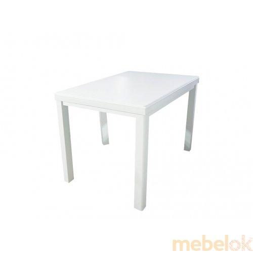 Стол Европа 120+40х80 раскладной белый