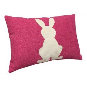 Декоративная подушка Заяц розовая