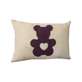 Декоративная подушка бежевая Медвежонок