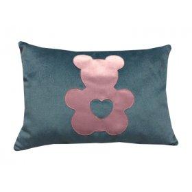 Декоративная подушка синяя Медвежонок
