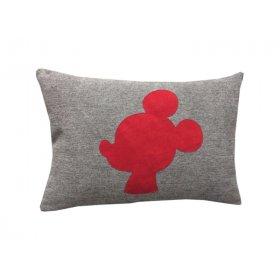 Декоративная подушка серая Микки Маус