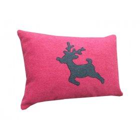 Декоративная подушка розовая Оленёнок