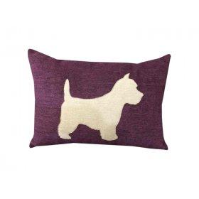 Декоративная подушка фиолетовая Пёсик