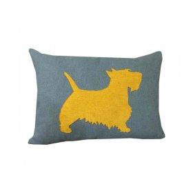 Декоративная подушка синяя Щенок