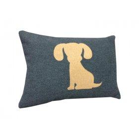 Декоративная подушка синяя Щенок 36х50