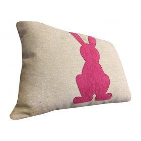 Декоративная подушка бежевая Зайчик 067