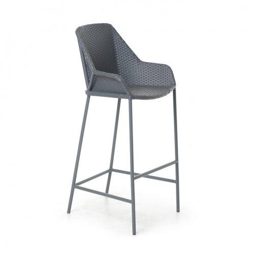 Кресло Бриз барное с подлокотниками 54х53х113х88 ротанг
