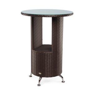 Стіл Флеш 80х80 плетені стільниця зі склом. Купити в інтернет-магазині меблів МебельОк за доступною ціною