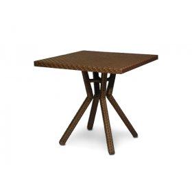 Стол Капри 80х80 плетеная столешница