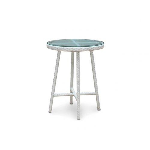 Стол Капучино плетеная столешница со стеклом