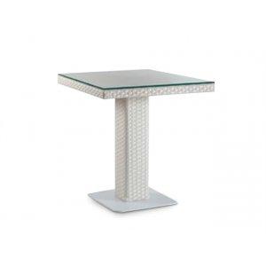 Стол Мартин 80х80 плетеная столешница со стеклом