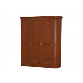 Шкаф четырехдверный однобокий Омега