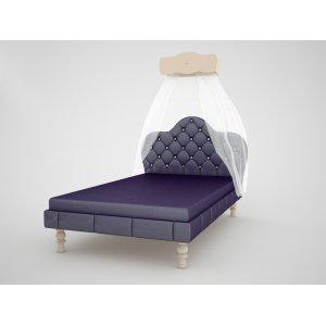 Кровать Гламур с тканевым изголовьем К 6-5 120х200