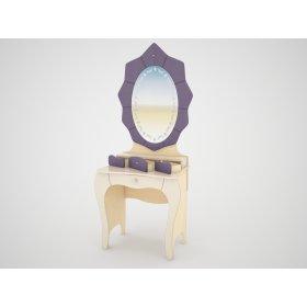 Стол туалетный с зеркалом Гламур СТ 6-3