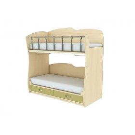 Двухэтажная кровать КД 1-5 Планета Луна 90х200