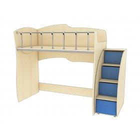 Двухэтажная кровать КД 1-6 Планета Луна 90х200